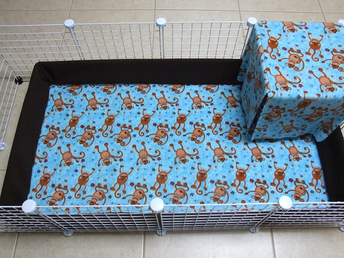 how to use fleece for guinea pig bedding