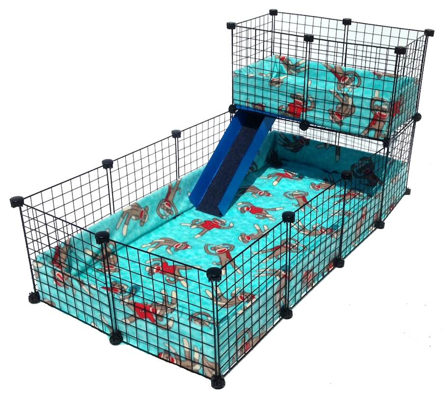 Piggy bedspread fleece cage for Coroplast guinea pig cage for sale