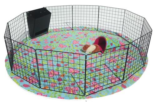 Piggy Play Pen Amp Mat Piggybedspreads Com Fleece Cage