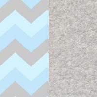 Chevron Blue and Grey