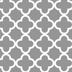 Quatrefoil Grey